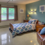 single patient bedroom at Salem West Healthcare Center
